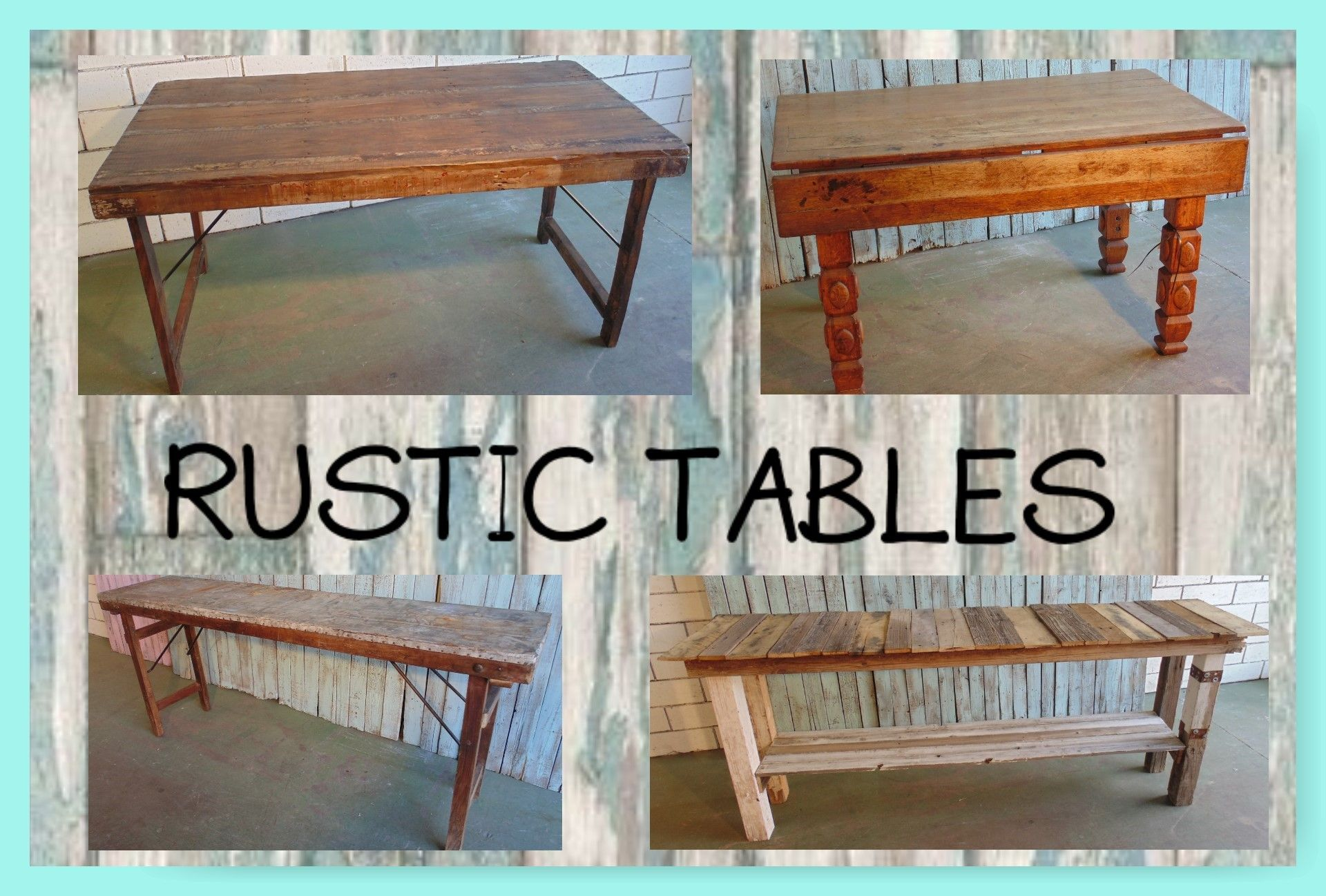 Rustic Vintage Tables Available For Rent Rustic Table Vintage Table Home Decor