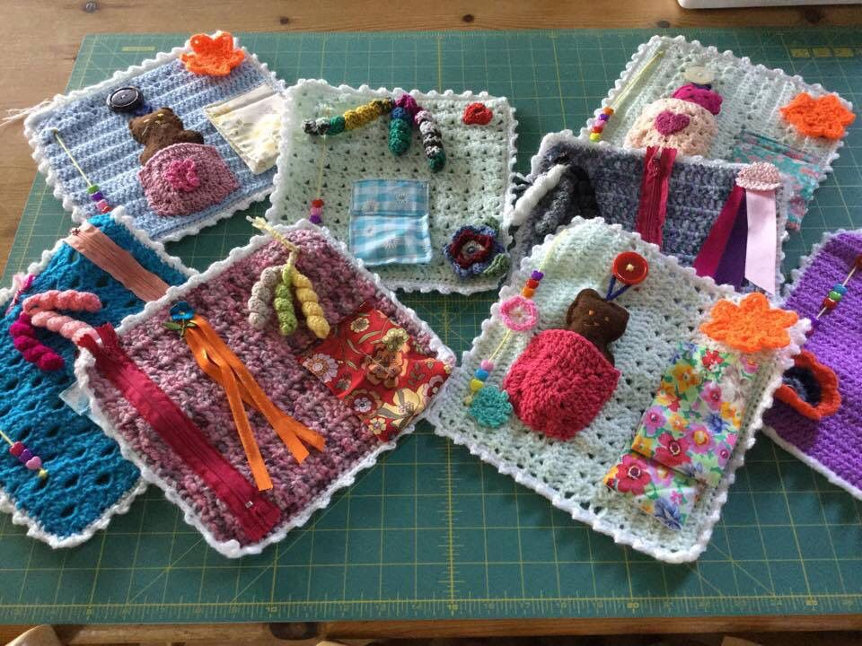 Twiddle Mats For Dementia Patients Fidget Quilt Dementia Crafts Crochet Gifts