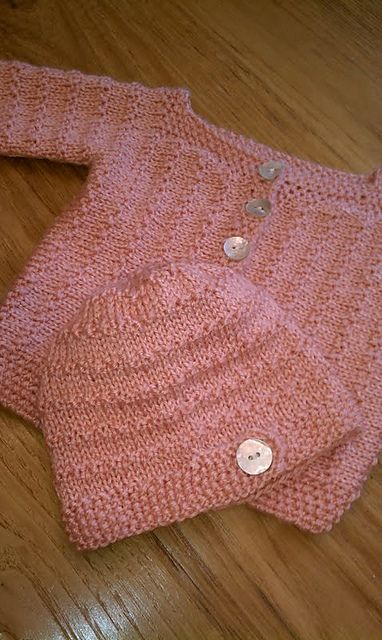 En punto y rosita para un recién nacido. | DIY Knitting peques ...