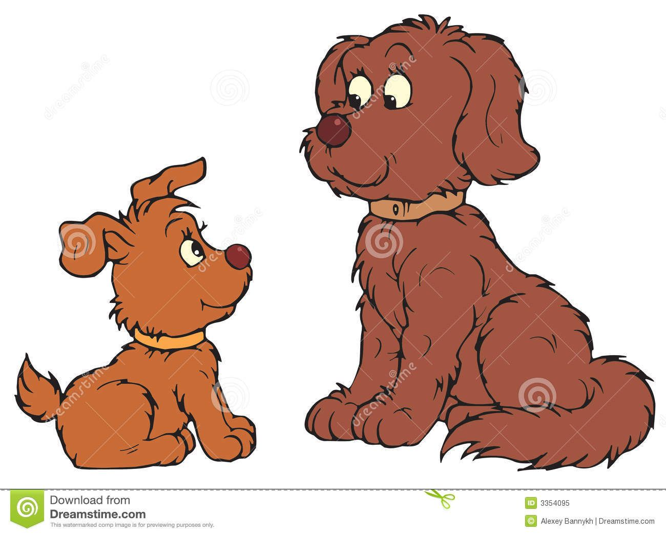 Free Dog Clip Art | Royalty Free Stock Photo: Dog and Pup (vector ...