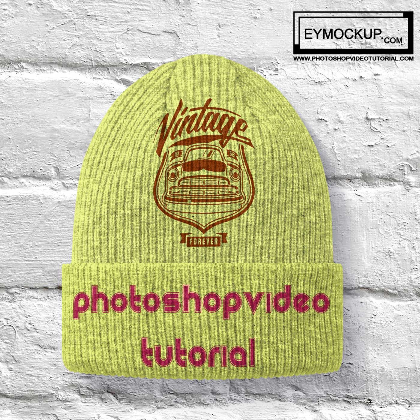 Download Now Showcase Your Logo Designs In A More Professional Way Using These Psd Winter Seasonal Cotton Cap Mockups Tem Free Logo Mockup Mockup Free Psd Free Logo Psd
