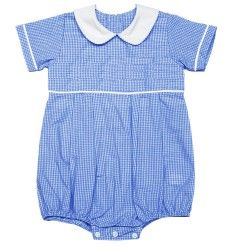 fe58eef17ee3 So Sweet!! •Super cute blue gingham bubble for boys •100% cotton ...