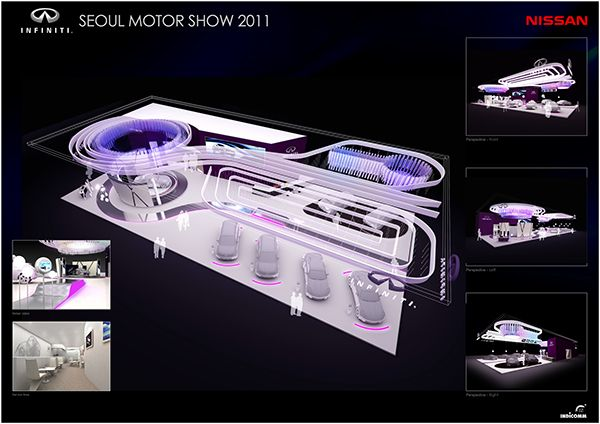 Exhibition Stall Design Templates : Seoul motor show nissan booth design plan on