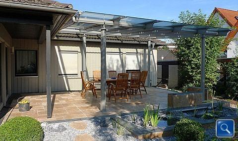 Berdachungen mit glas wie terrassen berdachungen minden for Carport bielefeld