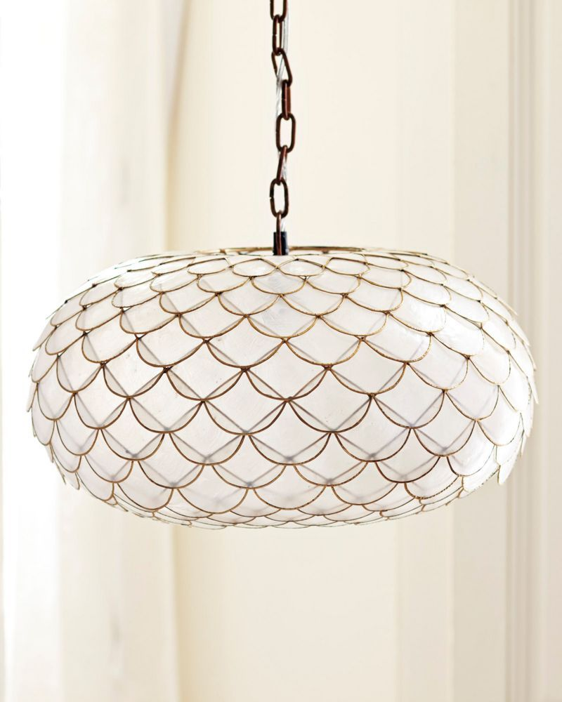 Capiz Scalloped Chandelier