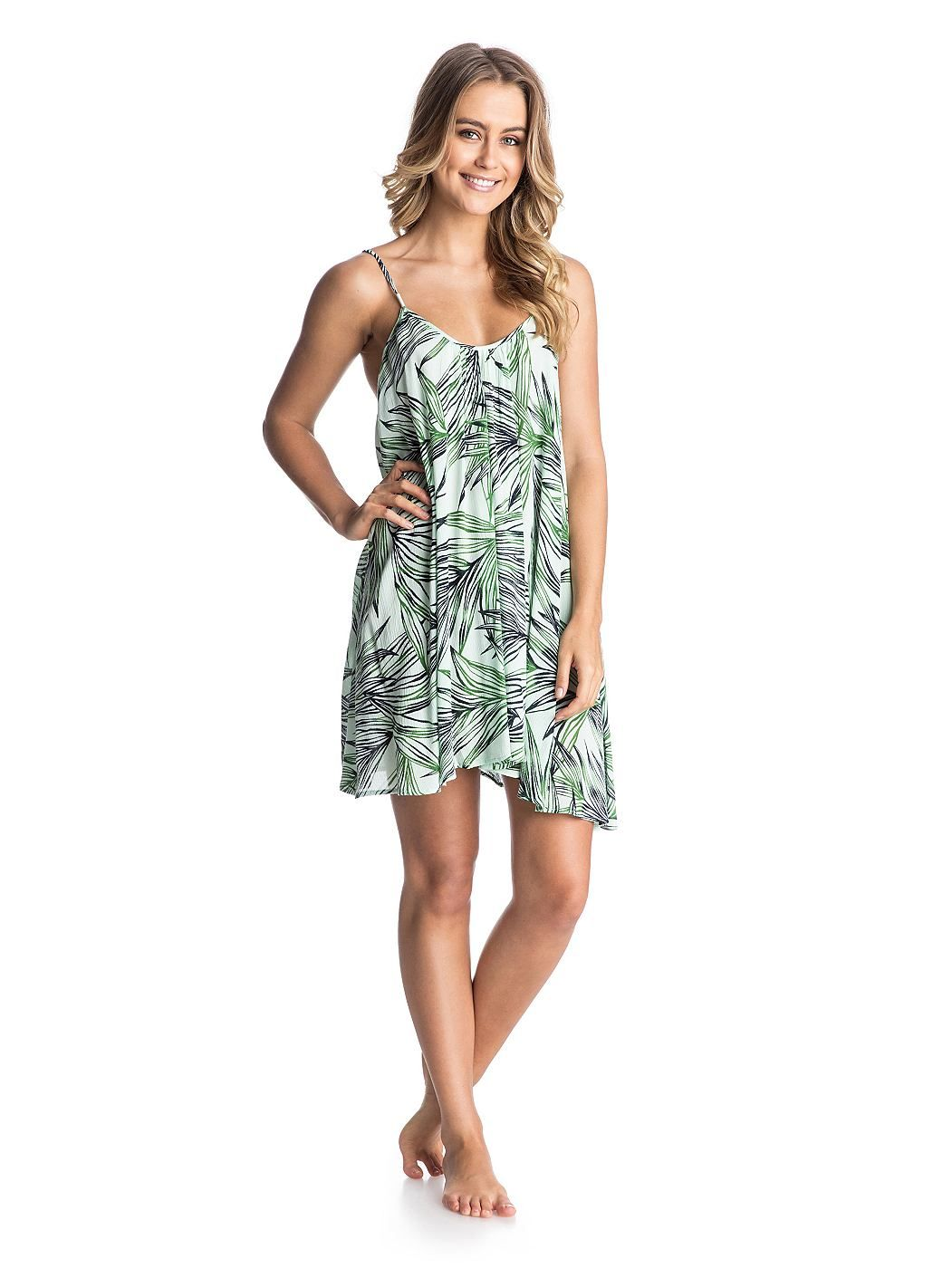 Sweet Vida Printed Dress - ROXY Roxy Strandkleid für Frauen  Das Sweet Vida Printed Dress ist Teil der Roxy Spring/Summer Swimwear Collection 2015. Dieses Strandkleid für Frauen zeichnet sich durch reine Viskose und Tank Dress Fit aus. Weitere besondere Features sind: Full Sweep Design, hergestellt aus 100% Viskose.  Merkmale:  Roxy Strandkleid, Bedruckter Stoff aus reiner Viskose, Fit: Tan...