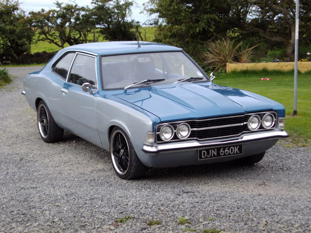 Duo Tone Grey And Blue Cortina With Raised Hood Classic Cars Classic Motors Ford