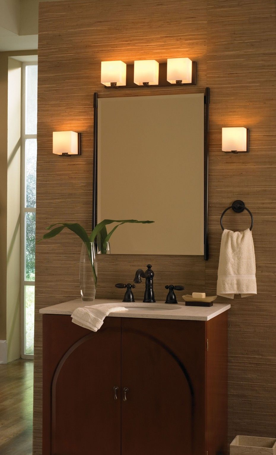 Bathroom Lighting. Contemporary Bathroom Vanity Lights Collection ...