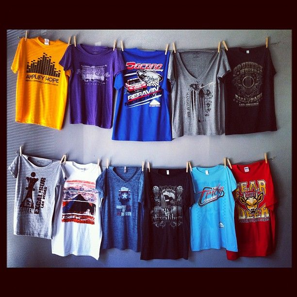 88ed59b1d Hanging Tee Shirt Display | Orignal Designs by SomethingInked ...