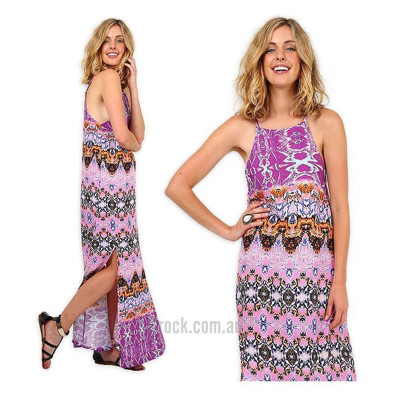 """In love with this! Get the """"Summer Mirage Side Split Maxi Dress"""" ON SALE for $25 at shop.stfrock.com.au #stfrock #maxi #dress #print #summer #sale"""