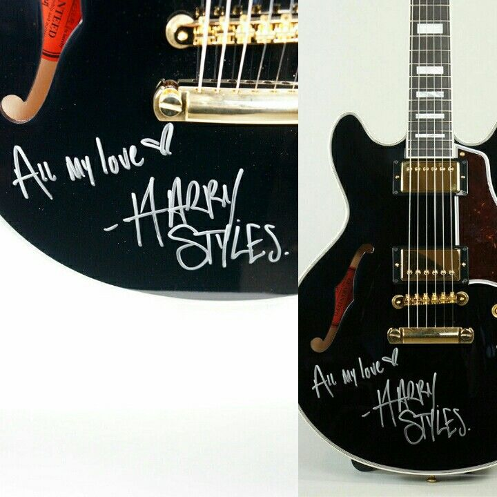 Guitar Signed By Harry Styles Harry Styles Harry Styles