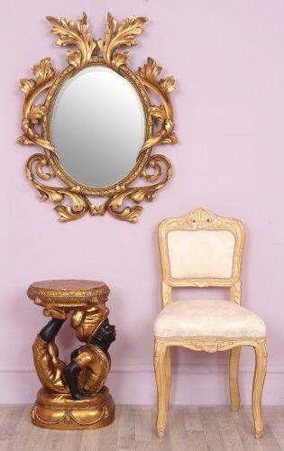 Oval Ornate Gold Decorative Mirror - Romeo | living room | Pinterest ...