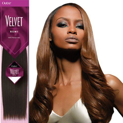 Outre Velvet 14 Remi Human Hair Extensions Weave Silky 27 613 Strawberry Blonde Platinum Blonde By Outre Velvet Weave Hairstyles Human Hair Remy Human Hair