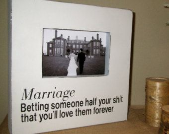 Funny Ring Bearer Signs Wedding Gift Picture Frame Fun Marriage
