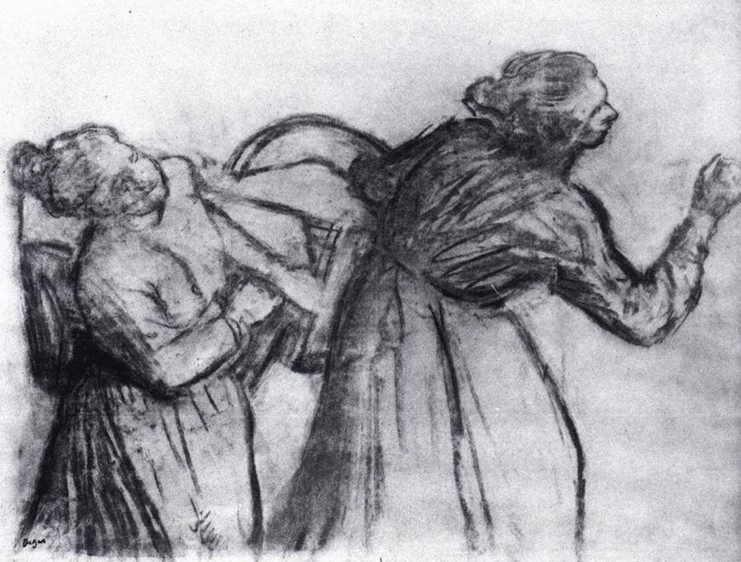 Edgar Degas Charcoal Drawings