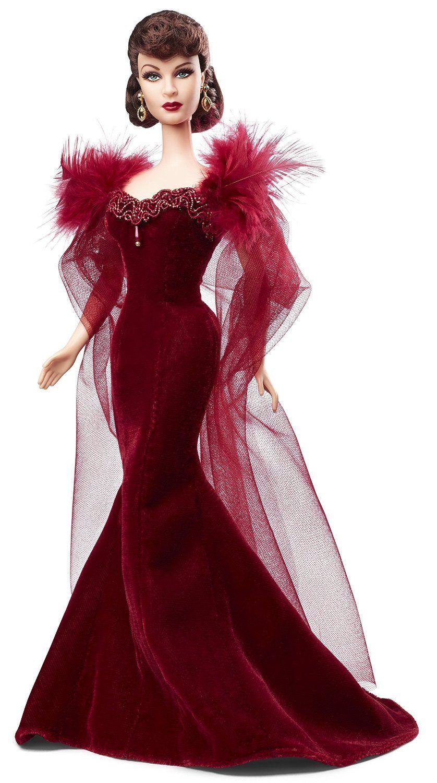 """Amazon.es: Barbie Mattel BCP72 - """"Lo que el viento se llevó"""" edición 75 años (Scarlett O'Hara): Juguetes y juegos"""