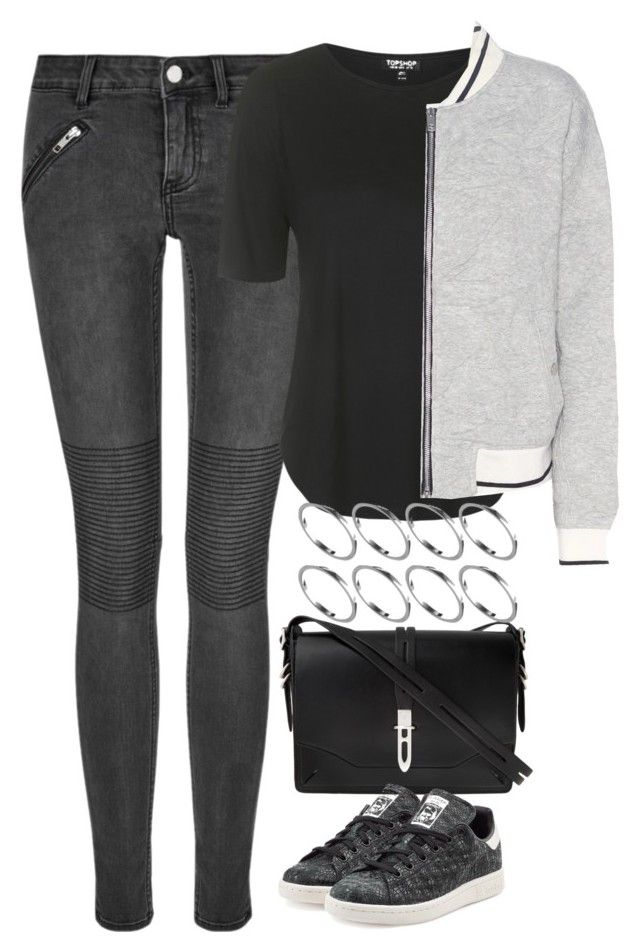 """Untitled #4084"" by keliseblog ❤ liked on Polyvore featuring BLK DNM, Topshop, rag & bone, adidas Originals and ASOS"