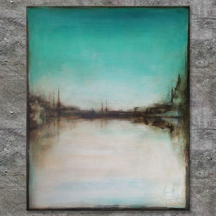 waterside acrylbild abstrakt l1792 malerei acrylbilder fotos auf leinwand ziehen poster drucken