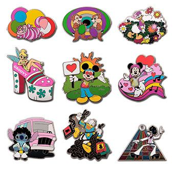 Disney Mystery Pin Set - 1970's Mickey Mouse and Friends
