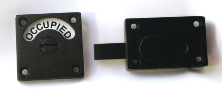 Bathroom Privacy Indicator Door Lock Featuring Occupied Vacant In Black Text Looks Striking With A Darker Bathroom Door Locks Privacy Lock Bathroom Hardware