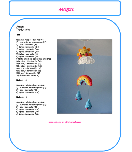 MOVIL ARCO IRIS | AMIGURUMI | Pinterest | Arco iris, Iris y Arco