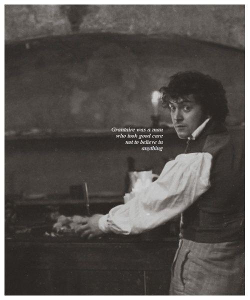 1k *** les miserables grantaire george blagden i was gonna ...  George Blagden Les Miserables Grantaire
