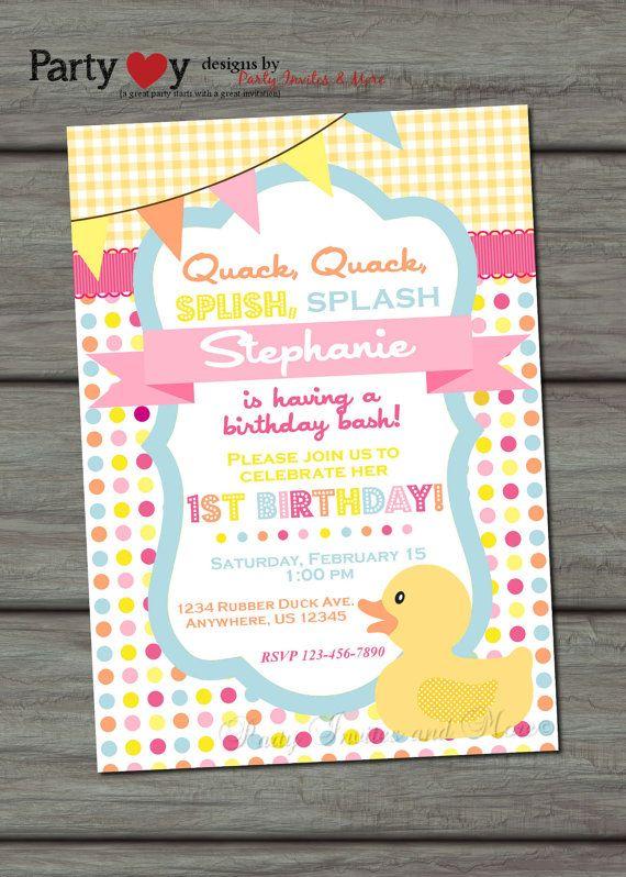 Rubber duck birthday invitation rubber duck invitation rubber rubber duck birthday invitation rubber duck by partyinvitesandmore 1000 filmwisefo