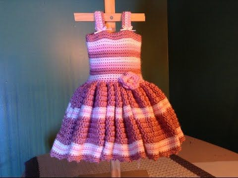 How To Crochet Easy Baby Dress For Newborn Photos Youtube Baby