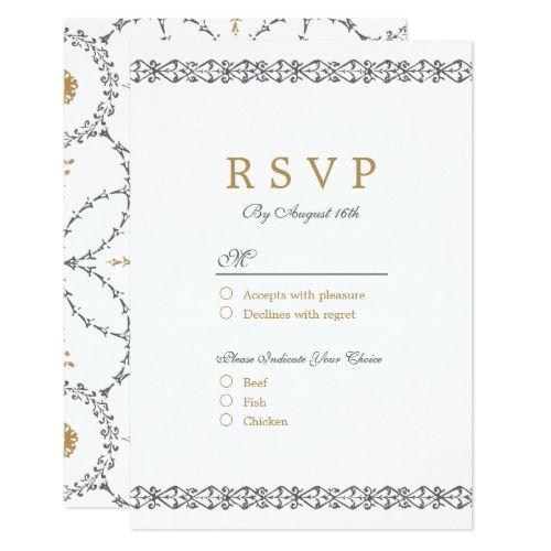 Formal wedding invitation rsvp elegant formal classic vintage formal wedding invitation rsvp elegant formal classic vintage wedding rsvp card stopboris Gallery