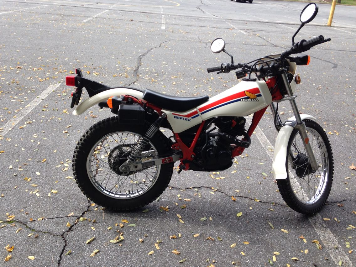 A Beautiful 1986 Honda Tlr200 Reflex And We Are Riding It Trial Bike Vintage Bikes Honda Motorcycle