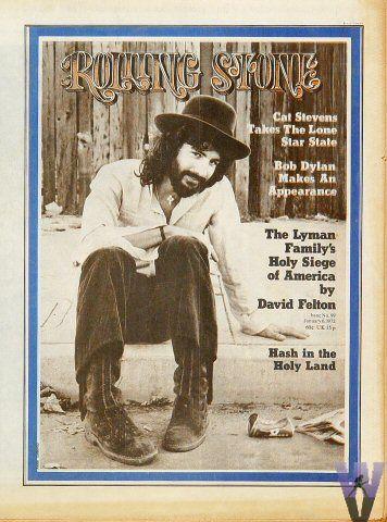 Cat Stevens Cat Stevens Rolling Stone Magazine Cover Rolling Stones Magazine