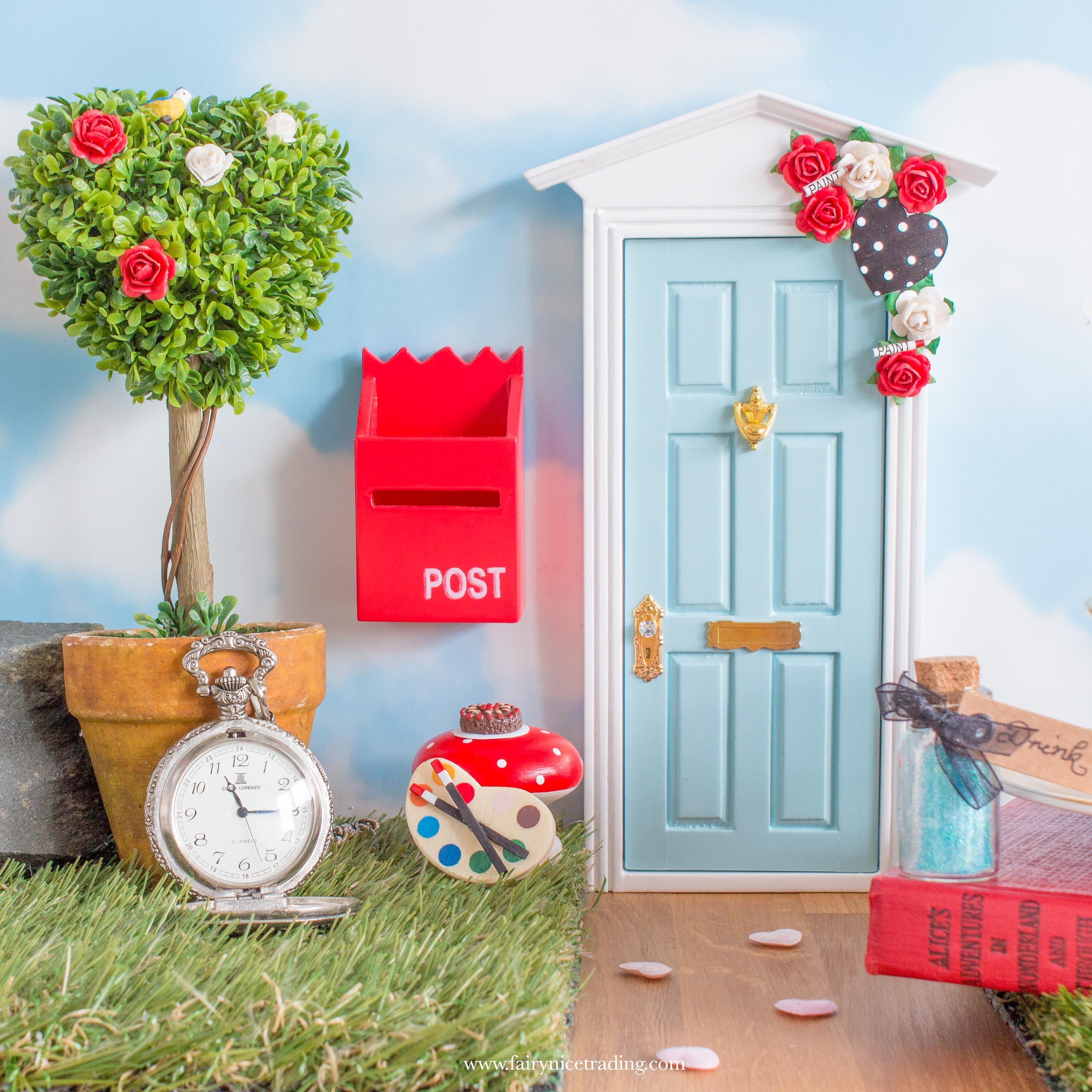 Alice In Wonderland Fairy Door Fairy Door Accessories Fairy Doors Beautiful Fairies
