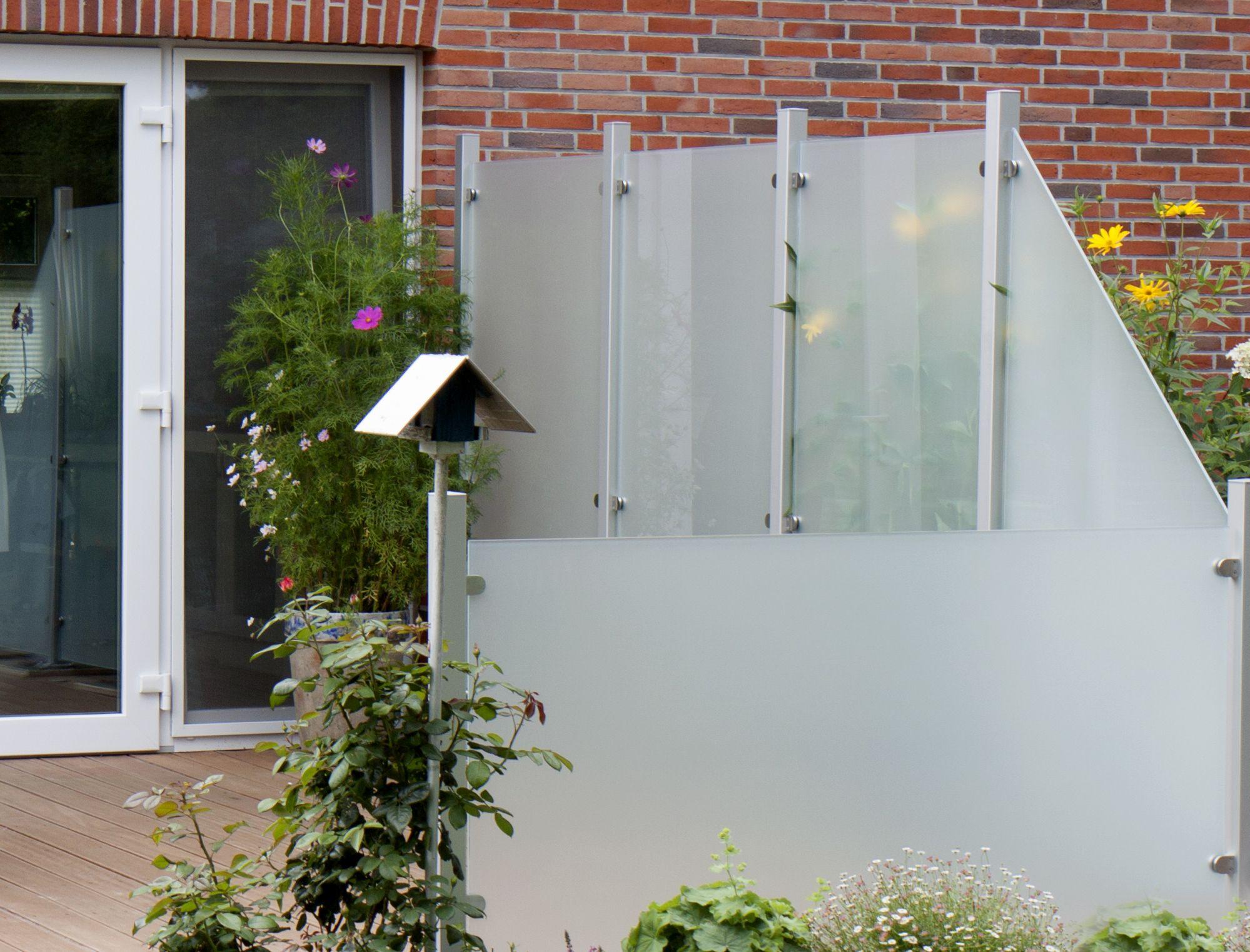Modern und elegant GroJaAmbiente Glas Sichtschutz in Satiniert