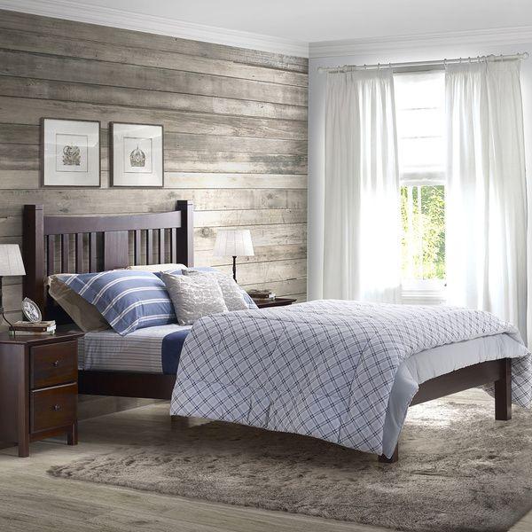 Grain Wood Furniture Shaker Solid Wood Queen Platform Bed by Grain ...