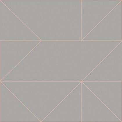 Kelly Hoppen Geo Grey Rose Gold Wallpaper