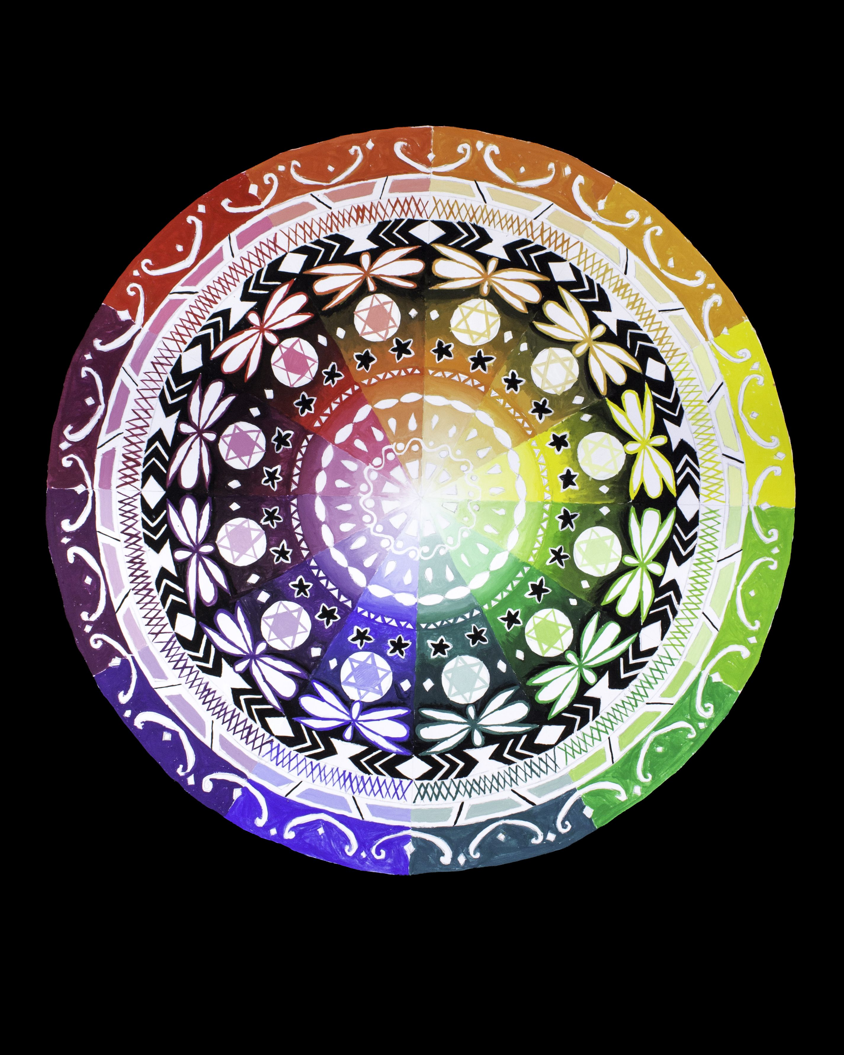 Color Wheel Mandalas Students Used A 1 12 Circle Template