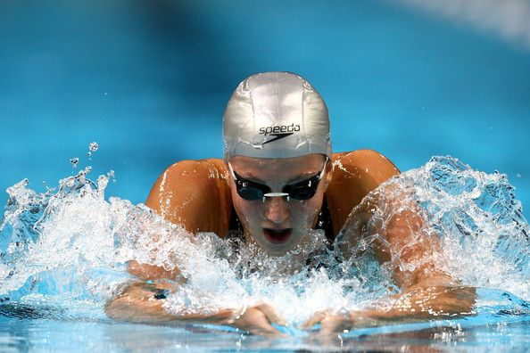 Rebecca Soni Swims En Route To Winning Her Semifinal Heat Of The 200 Meter  Breaststroke During The U. Swimming Olympic Trials On July 2008 At The  Qwest ...
