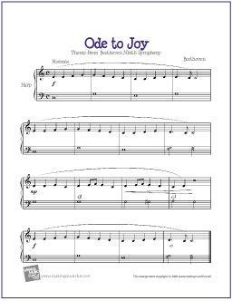 Ode To Joy Ode To Joy Music For Kids Sheet Music