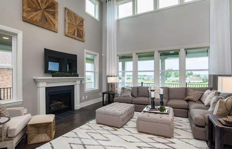 Gathering room home new home builders new homes for sale