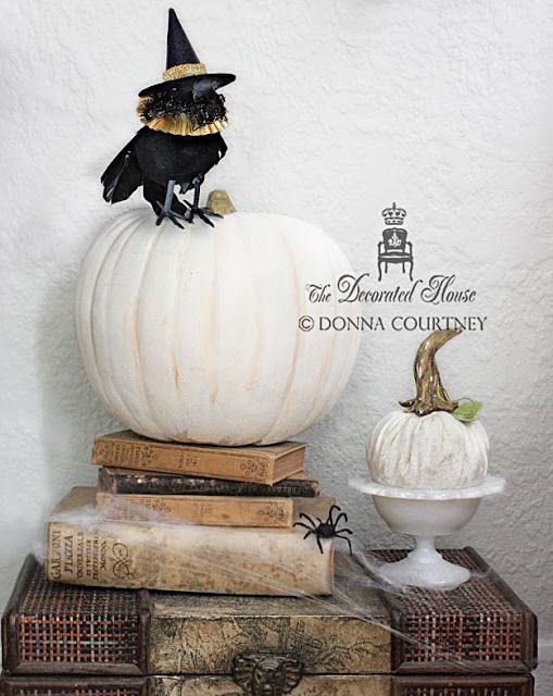 Halloween Decorating ~ Black and White Elegant Fun Halloween ideas - fun halloween decorating ideas
