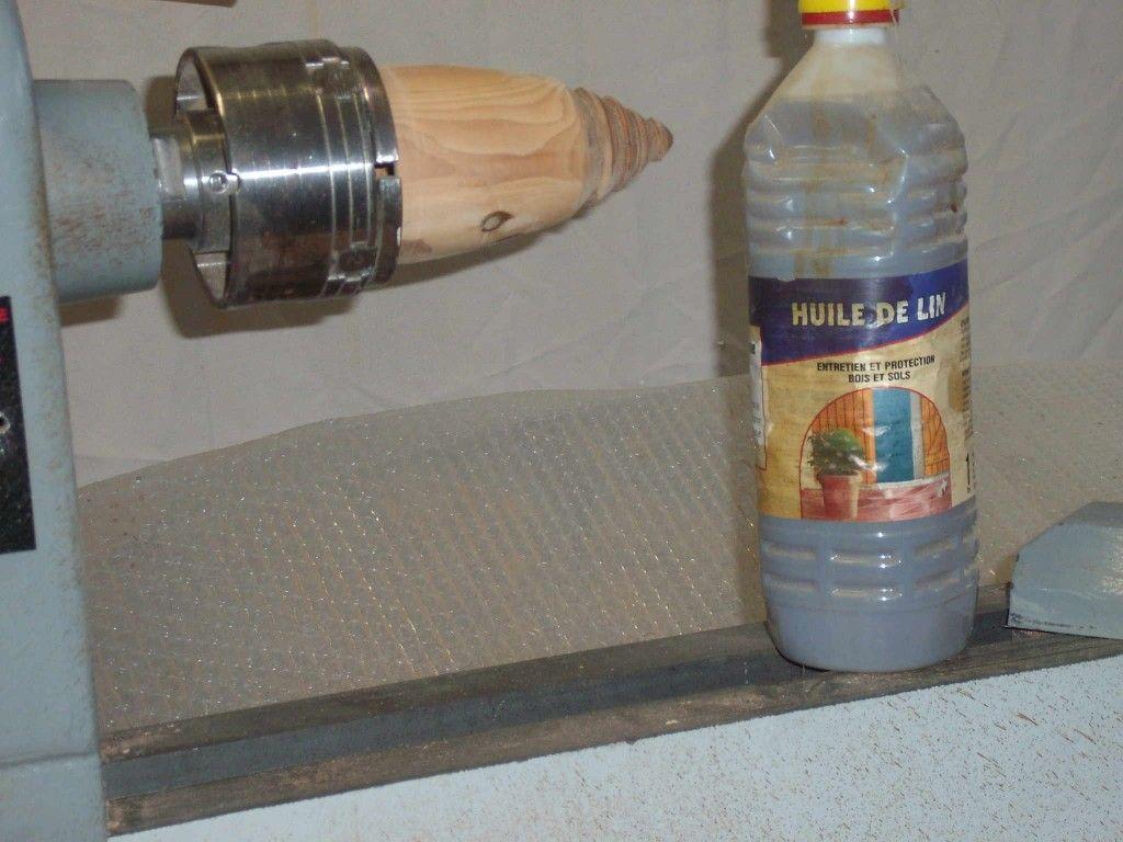 huile de lin tournage sur bois
