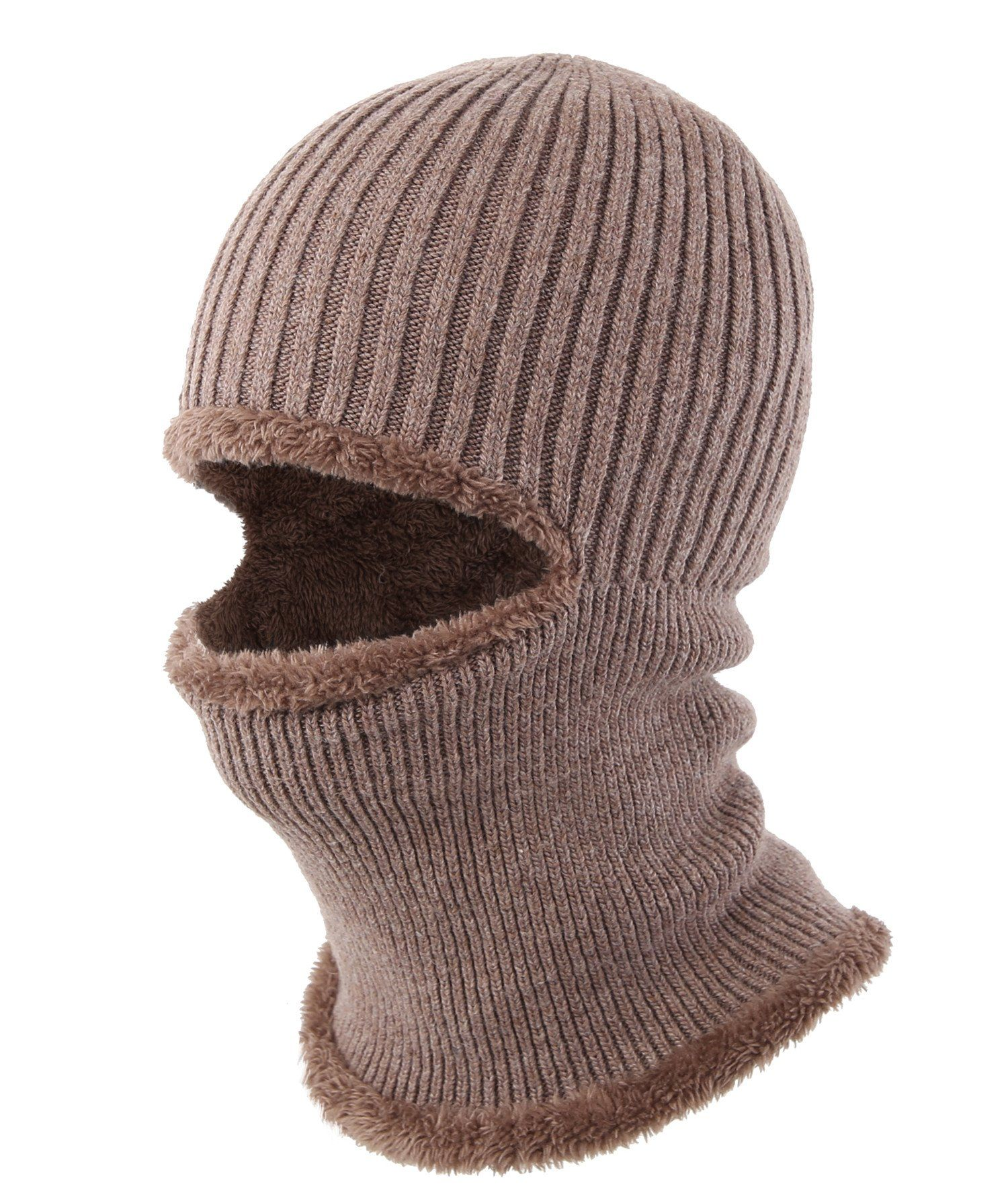 22833ccd38592 Connectyle Windproof Ski Face Mask Winter Hats Warm Knitted Balaclava Beanie  Hat (Khaki).