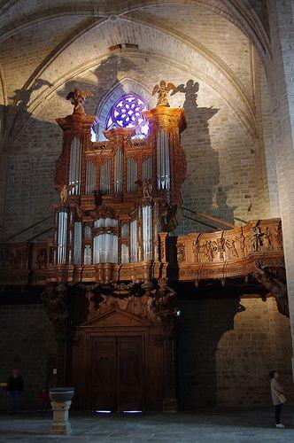 La Chaise Dieu Haute Loire Abbatiale Saint Robert Buffet D Orgue Du 17 Ieme Minster Organs Piano
