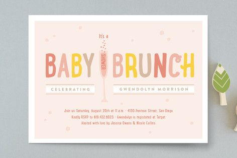 baby brunch baby shower invitations by erica krystek at minted com