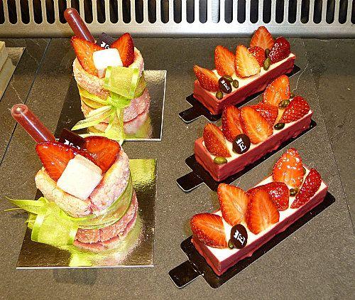 Charlotte aux fraises et tarte aux fraises - Edouard Set (Nantes)