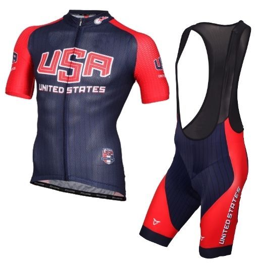 USA Cycling Jersey set USA National TEAM Cycling Jersey Bike Ropa Ciclismo 7d661d89f
