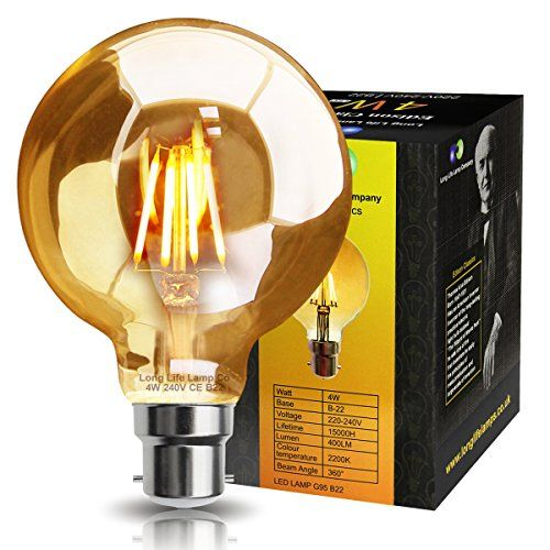 The LED Vintage Industrial Edison Style filament bulb is a true classic lamp. It brings you back in time where lighting was very simple yet warming.