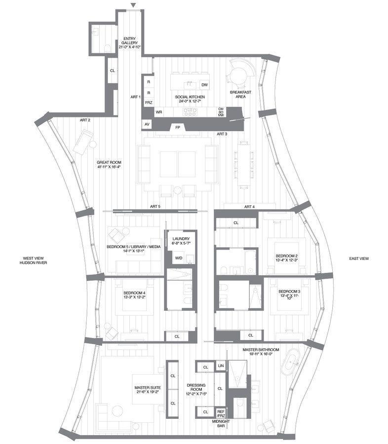 Herzog & De Meuron's 160 Leroy Reveals Quirky Floorplans