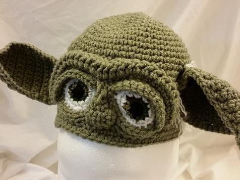 84fe31f98457b Yoda crochet hat. Check out my latest creation.