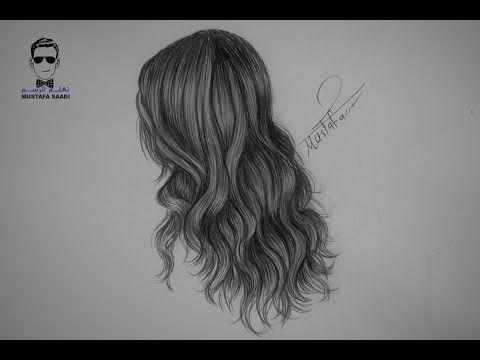 تعلم رسم الشعر الكيرلي الشعر المجعد بالرصاص مع الخطوات للمبتدئين Youtube How To Draw Hair Step By Step Hairstyles Short Hair Styles For Round Faces